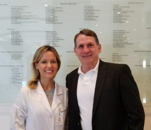 Dra Claudia Faria e Dr Kenneth Wright