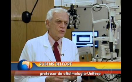 Prof. Dr. Rubens Belfort Júnior no Bom dia Brasil da Globo
