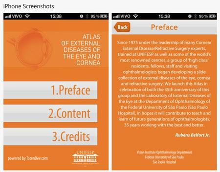 Screenshot do Aplicativo Atlas de doenças oculares para iPad e iPhone