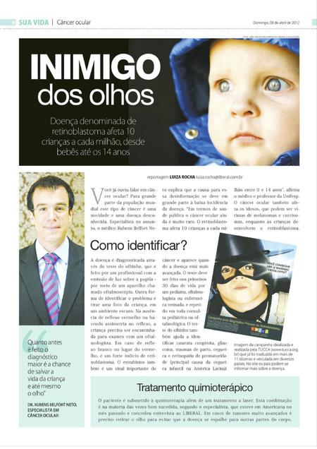 Materia Rubens Belfort sobe Retinoblastoma