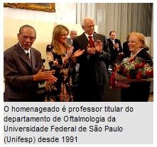 Professor Rubens Belfort Jr. recebe Medalha Anchieta e Título de Gratidão da cidade de São Paulo